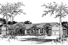 Home Plan Design - Traditional Exterior - Front Elevation Plan #20-552