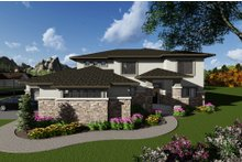 Dream House Plan - Modern Exterior - Front Elevation Plan #70-1290