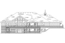 House Plan Design - European Exterior - Rear Elevation Plan #5-356