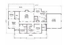 Country Floor Plan - Main Floor Plan Plan #419-108
