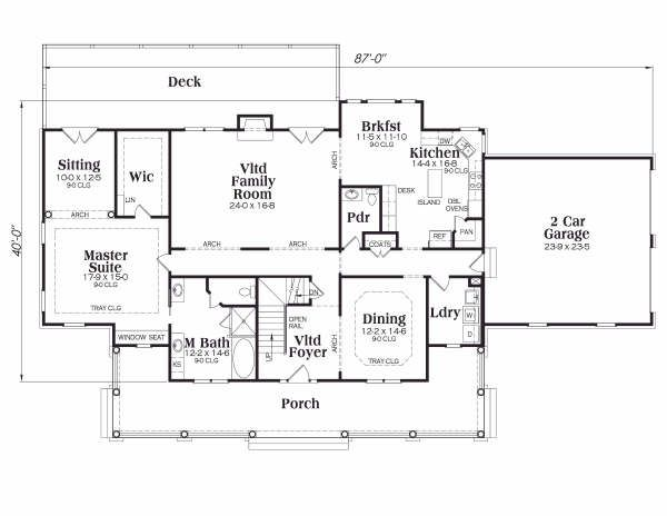 Country Floor Plan - Main Floor Plan Plan #419-108