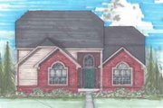 Traditional Style House Plan - 3 Beds 2.5 Baths 2110 Sq/Ft Plan #136-114
