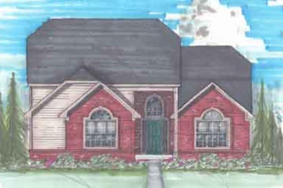 Traditional Exterior - Front Elevation Plan #136-114