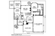 European Style House Plan - 4 Beds 2.5 Baths 2854 Sq/Ft Plan #70-489 Floor Plan - Main Floor