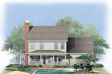 Country Exterior - Rear Elevation Plan #929-749