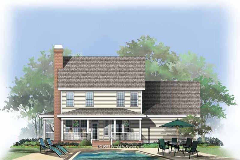 Country Exterior - Rear Elevation Plan #929-749 - Houseplans.com