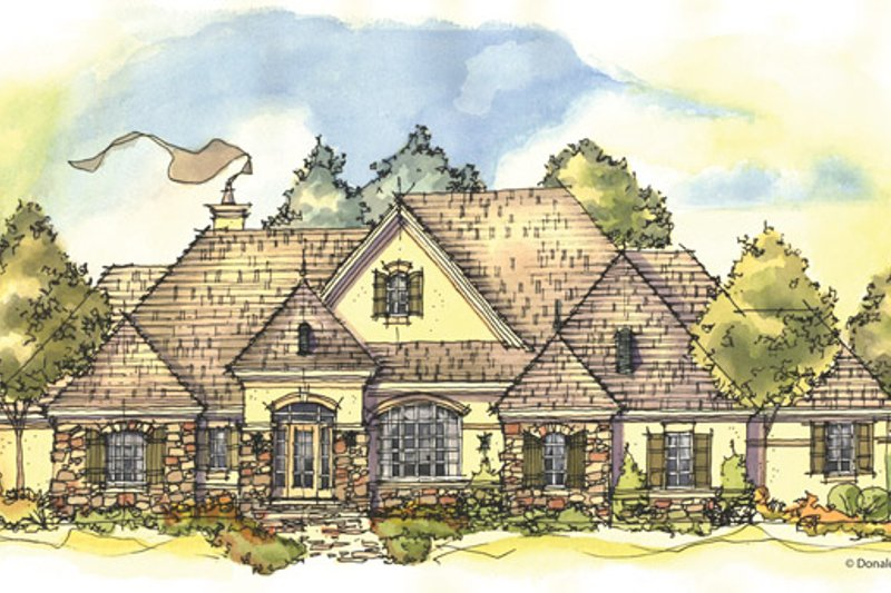 European Exterior - Front Elevation Plan #929-942