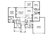 European Floor Plan - Main Floor Plan Plan #1010-146