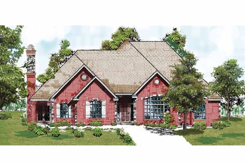 Country Exterior - Front Elevation Plan #52-251 - Houseplans.com