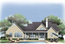 Country Exterior - Rear Elevation Plan #929-789