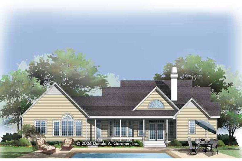 Country Exterior - Rear Elevation Plan #929-789 - Houseplans.com