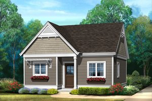 Dream House Plan - Cottage Exterior - Front Elevation Plan #22-606