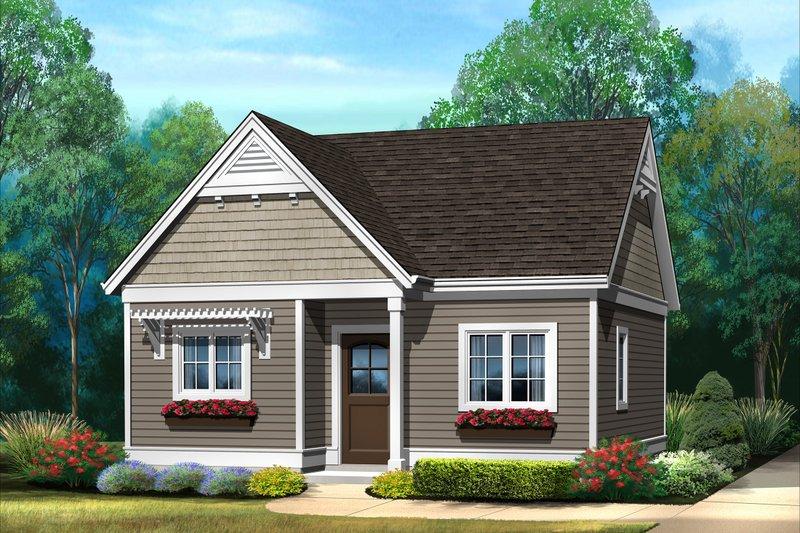 House Plan Design - Cottage Exterior - Front Elevation Plan #22-606