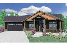 Prairie Exterior - Front Elevation Plan #509-350