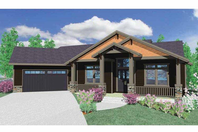Prairie Exterior - Front Elevation Plan #509-350 - Houseplans.com