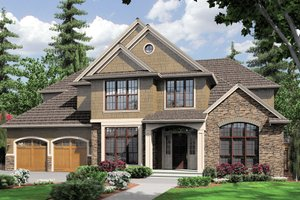 Craftsman Exterior - Front Elevation Plan #48-612