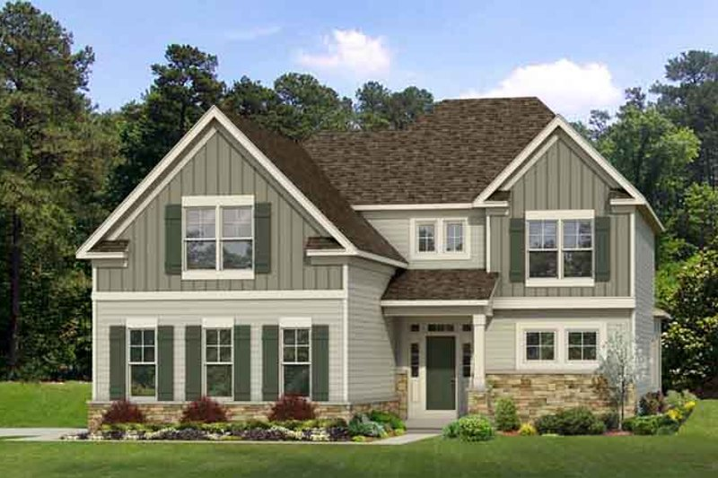 Country Exterior - Front Elevation Plan #1010-79