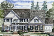 Dream House Plan - Colonial Exterior - Front Elevation Plan #316-250