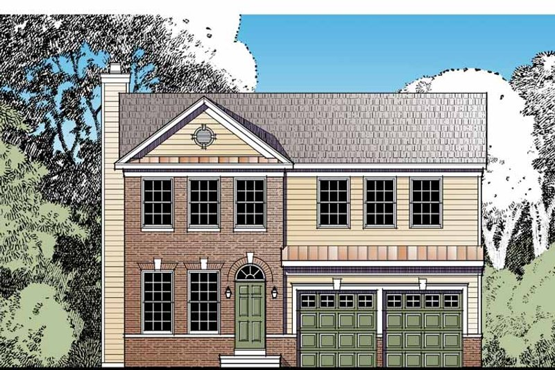 Traditional Exterior - Front Elevation Plan #1029-63 - Houseplans.com
