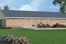 Architectural House Design - Ranch Exterior - Rear Elevation Plan #45-555