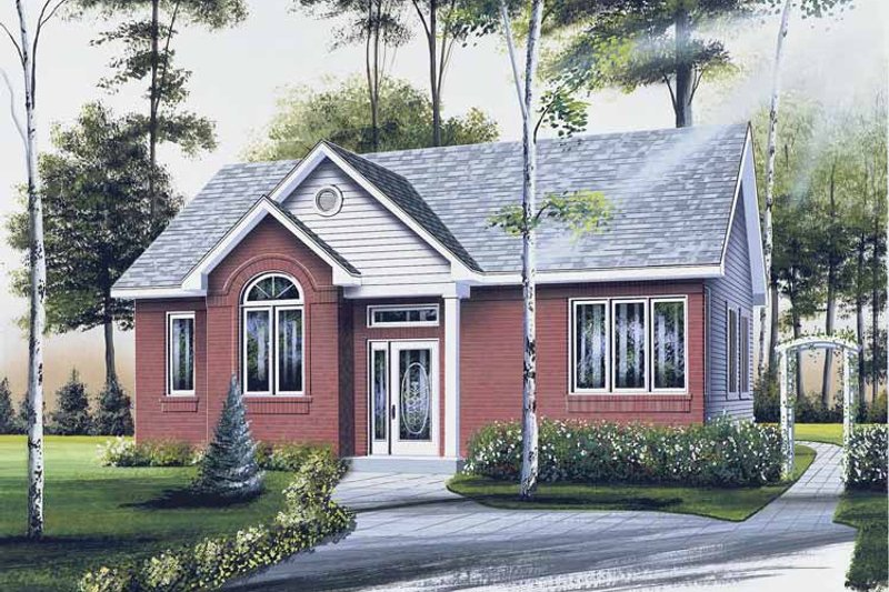 Country Exterior - Front Elevation Plan #23-2358
