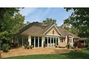 Craftsman Style House Plan - 4 Beds 3.5 Baths 4124 Sq/Ft Plan #928-223 Exterior - Rear Elevation