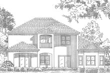 House Plan Design - Mediterranean Exterior - Rear Elevation Plan #417-571