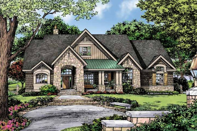 Craftsman Exterior - Front Elevation Plan #929-875