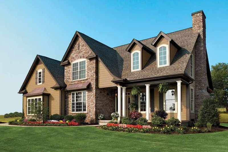 Country Exterior - Front Elevation Plan #929-634