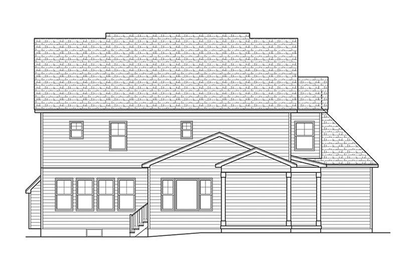 Traditional Exterior - Rear Elevation Plan #1010-136 - Houseplans.com