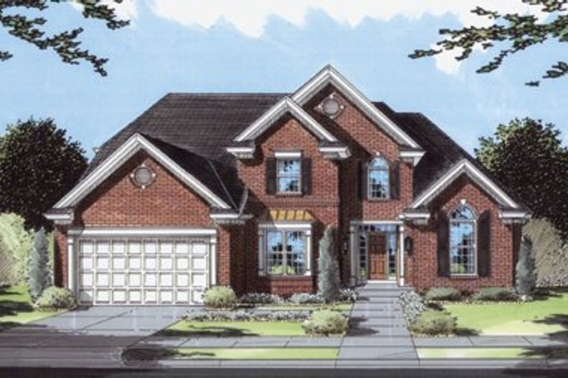 Southern Exterior - Front Elevation Plan #46-117