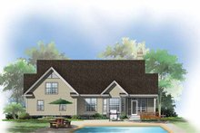 Country Exterior - Rear Elevation Plan #929-294