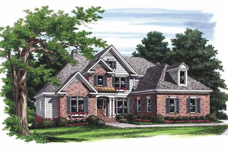 Traditional Exterior - Front Elevation Plan #927-673 - Houseplans.com