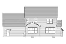Colonial Exterior - Rear Elevation Plan #1010-47