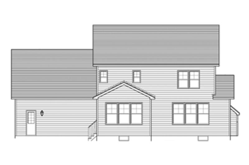Colonial Exterior - Rear Elevation Plan #1010-47 - Houseplans.com