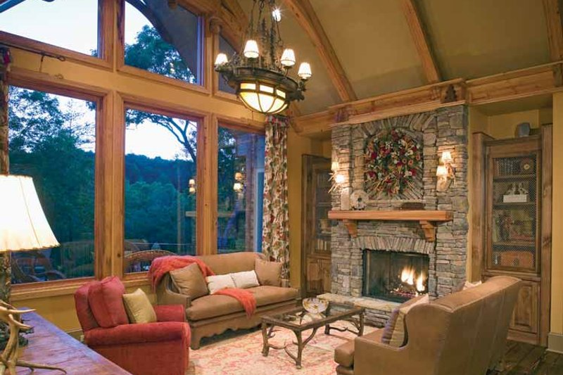 Craftsman Interior - Family Room Plan #54-245 - Houseplans.com