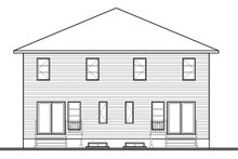 Contemporary Exterior - Rear Elevation Plan #23-2598