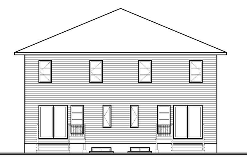 Contemporary Exterior - Rear Elevation Plan #23-2598 - Houseplans.com