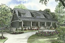 Country Exterior - Front Elevation Plan #17-3266