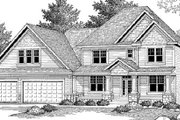 Country Style House Plan - 3 Beds 2.5 Baths 3253 Sq/Ft Plan #51-222 Exterior - Other Elevation