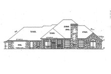 European Exterior - Rear Elevation Plan #310-591