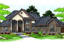 European Exterior - Front Elevation Plan #70-548