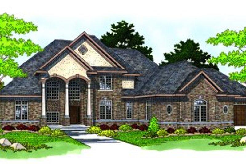 Dream House Plan - European Exterior - Front Elevation Plan #70-548