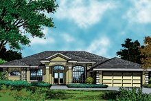Architectural House Design - Mediterranean Exterior - Front Elevation Plan #417-626