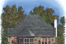 Dream House Plan - Victorian Exterior - Rear Elevation Plan #1016-92