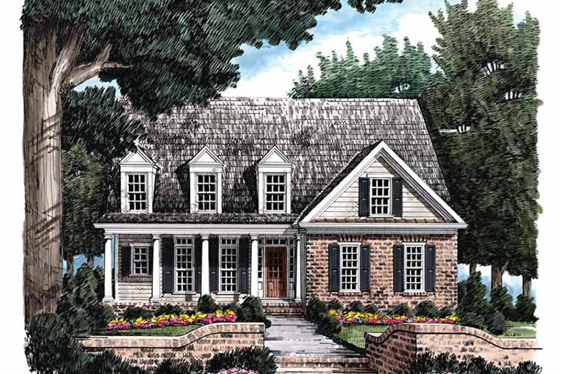 Colonial Exterior - Front Elevation Plan #927-796