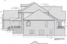 Colonial Exterior - Rear Elevation Plan #46-104