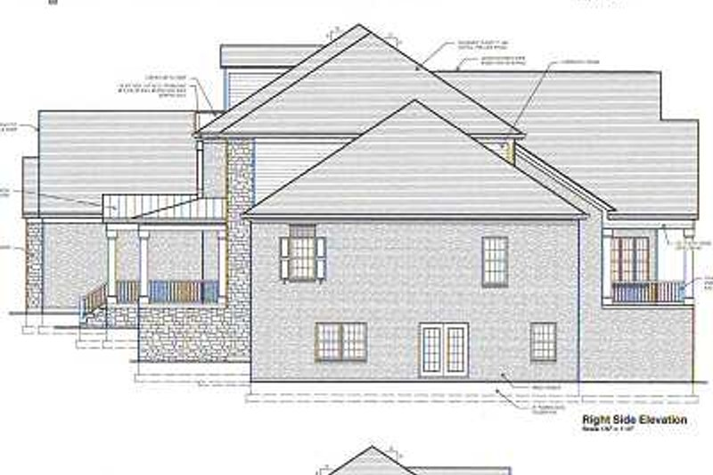 Colonial Exterior - Rear Elevation Plan #46-104 - Houseplans.com