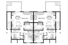 Country Floor Plan - Lower Floor Plan Plan #23-2594