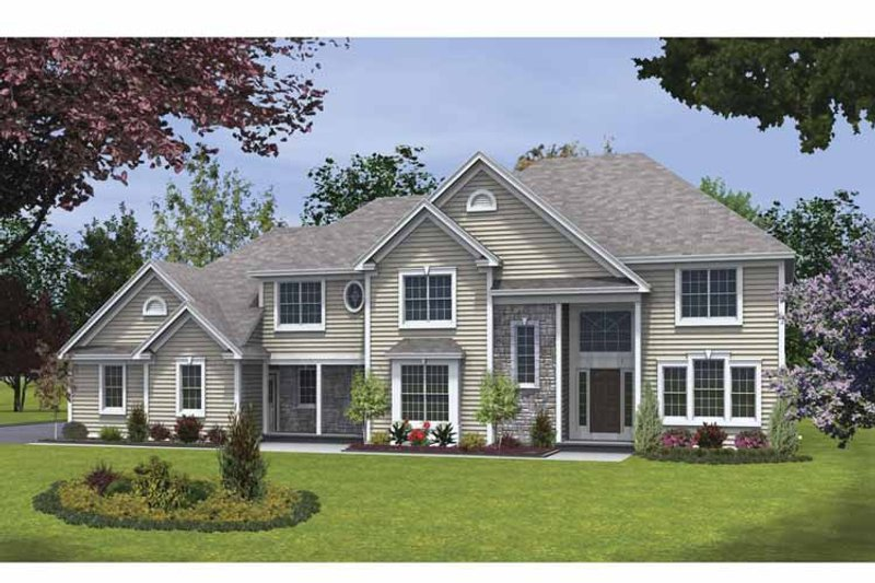 Traditional Exterior - Front Elevation Plan #328-461 - Houseplans.com